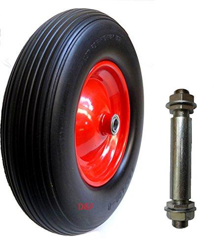 Schubkarrenrad 4.80//4.00-8 Achse Ersatzrad Luftreifen Schubkarrenreifen Reifen