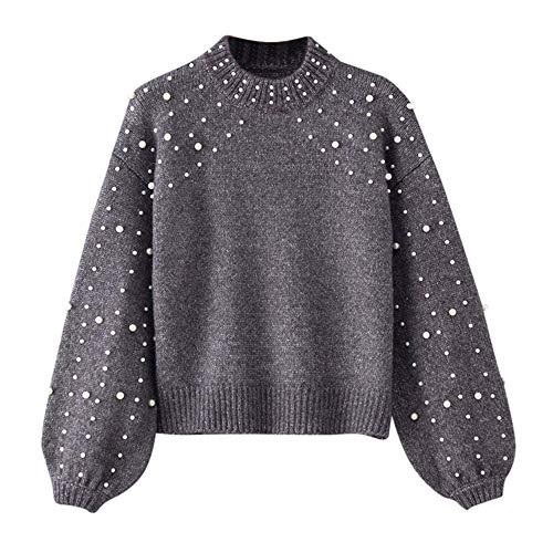 e44445914fcc21 Btruely Sweatshirt Damen Winter Gestrickte Langarmshirt Frauen Pullover  Groß Größe Oberteile Perle Sweater