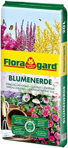 f r balkon k bel und zimmerpflanzen floragard blumenerde 5 l mit langzeitd nger anedrag